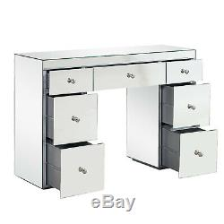 7 drawer mirrored glass dressing table dresser vanity