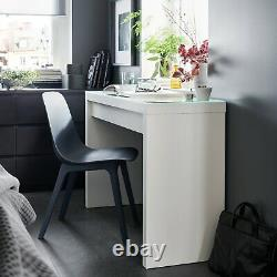 BRAND NEW IKEA MALM DRESSING TABLE (WHITE -120x41CM) GLASS TOP FLATPACKED STURDY