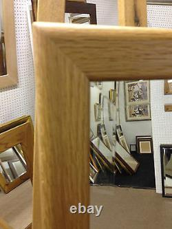 BUY DIRECT MODERN 38mm SHAPED SOLID OAK LONG AND FULL LENGTH DRESSING MIRRORS