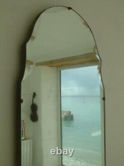 Beautiful Vintage Art Deco Bevelled Edge Full Length Wall Mirror Dressing