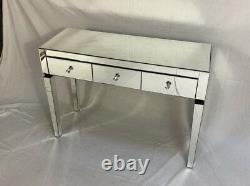 Brand New Classic Mirrored 3 Drawers Console/Dressing Table