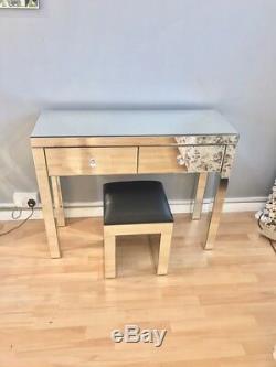 Brand New Venetian Mirrored Glass Dressing Table