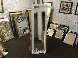 Buy Direct Modern Flat White Long And Full Length Dressing Mirrors