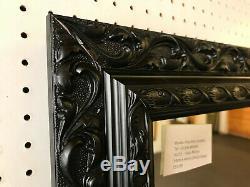 Buy Direct Ornate Black Shabby Chic Style Long & Full Length Dressing Mirror