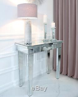 Classic Mirror Contemporary Glass Venetian 1 Drawer Console Hall Dressing Table