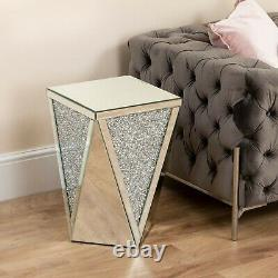 Crushed Diamond Mirror Silver Sideboard Coffee Table Drawers Console TV Stand