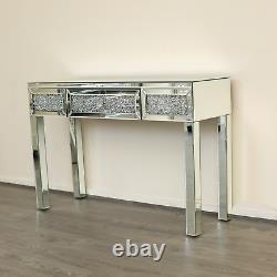Diamond crush console table / dressing table Modern furniture