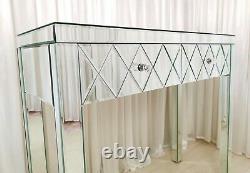 Dressing Table ROMANO PREMIUM PLUS Glass Mirrored Vanity Table Console Desk