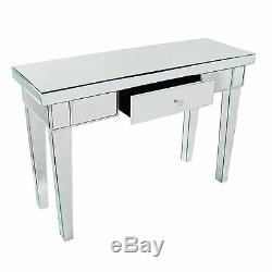 EXTRA LARGE Venetian Mirror Glass Single Drawer Console Dressing Hall Table