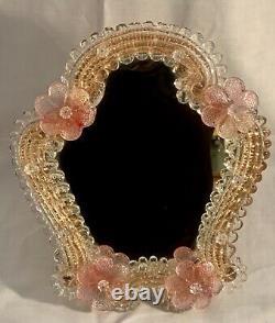 Elegant Venetian Murano Glass Dressing Table Mirror. Mint