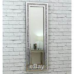 Gatsby Crystal Diamond Glass Frame Long Dress Wall Mirror 120 x 40cm / 48 x 16