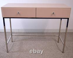 Glass Mirror Dressing Table 2 Drawer Venetian Bedroom Furniture Vanity Blush