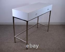 Glass Mirror Dressing Table 2 Drawer Venetian Bedroom Furniture Vanity White