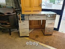 Glass Mirrored 7 Drawer Large Dressing Table Desk Bedroom