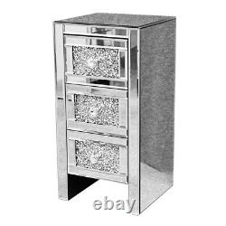 Glass Mirrored Bedroom Furniture-Dressing Table, Mirrors and Bedside Table UK