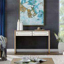 Gold Mirrored Console Hall Table Mirror Dressing Furniture Glass Wall Living
