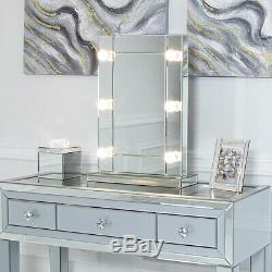 Hollywood Classic 6 Dimmable LED Light Up Bulbs Dressing Table Vanity Mirror