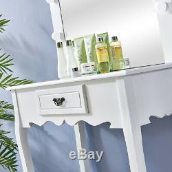 Hollywood White/Black Dressing Table with Lights Vanity Mirror Makeup Modern UK
