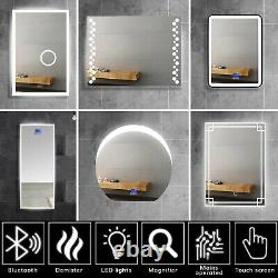Jack Stonehouse Illuminated LED Bathroom Mirrors with Demister, Speaker, IP44