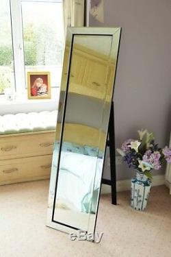 Large Mitred Venetian Free Standing Cheval Bathroom Dress Mirror 5Ft X 1Ft3