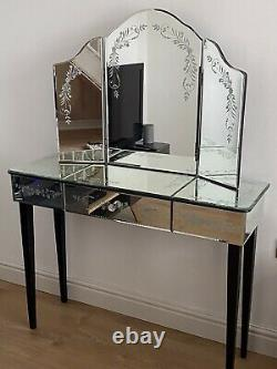 Laura Ashley Venitian Console/Dressing Table And 3 Way Mirror