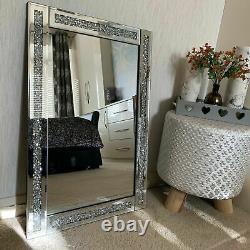 Loose Diamante Wall Mirror 40x60 Crush Jewel Diamante Dressing Wall Mirror