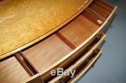 Lovely Birdseye Maple Dressing Table, Glass Top & Mirror By Tudor Rose Bros Ltd