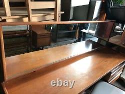 Mid Century Vintage Dressing Table with Glass Mirror