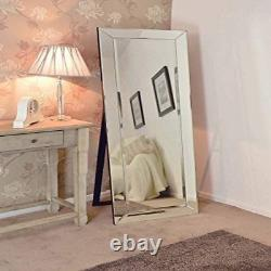 Mirror Large All Glass Venetian Cheval Dress Big New 5Ft7 X 1Ft11 170cm X 58cm