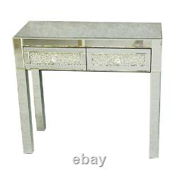 Mirrored 2 Drawers Dressing Table Bedroom Console Vanity Make-up Desk UK