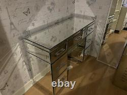 Mirrored 7 Draw Desk/Dressing Table
