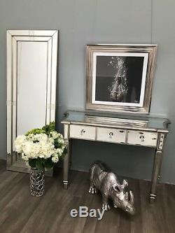 Mirrored Console Dressing Table Desk 3 Drawer Vintage Venetian Glass Furniture