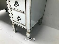 Mirrored Console Dressing Table Desk Silver Venetian Glass Furniture Vintage