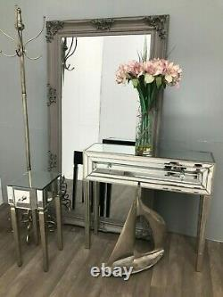 Mirrored Console Dressing Table Desk Venetian Glass Furniture 1 Drawer Home