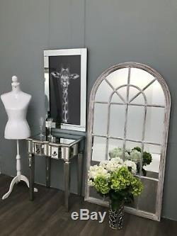 Mirrored Console Dressing Table TV Stand 2 Drawer Silver Modern Glass Furniture