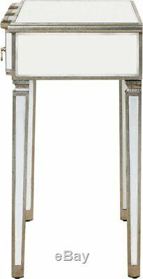 Mirrored Console Table Furniture Vintage Venetian Dressing Table 3 Drawers New