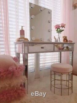 Mirrored Console Table Venetian Furniture Dressing Table Bedroom Vanity Desk
