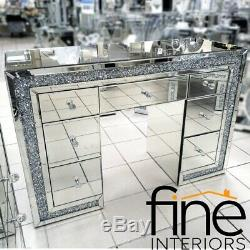 Mirrored Crushed Crystal Dressing Table FREE DELIVERY AVAILABLE