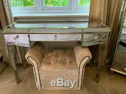 Mirrored Dressing Table By Next 3 Drawers Juliette Range Furniture