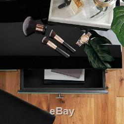 Mirrored Dressing Table Drawers High Gloss Glass Make Up Vanity Desk Furniture