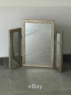 Mirrored Dressing Table Set Vanity Mirror Stool Bedroom Furniture Venetian