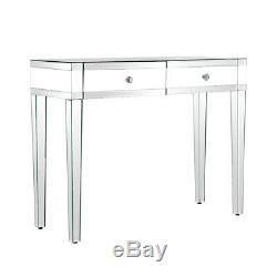 Mirrored Dressing Table Vanity Dresser Console Bedroom 2 Drawers Makeup Desk