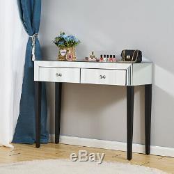 Mirrored Dressing Table Vanity Dresser Console Bedroom Mirror Makeup Desk