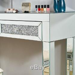 Mirrored Dressing Table Vanity Dresser Console Bedroom Stool Mirror Makeup FM108