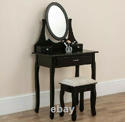 Mirrored French Style Dressing Table Shabby Chic Silver Bedroom Furniture Glass