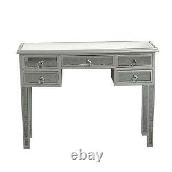 Mirrored Furniture Glass Dressing Table Bedroom Entryway Console