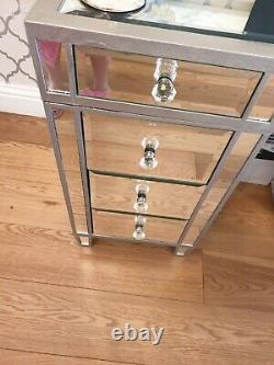 Mirrored Glass Desk/Dressing Table