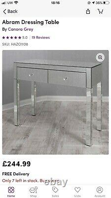 Mirrored Glass Dressing Table (Abram on Wayfair £244.99) Brand new