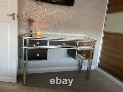 Mirrored Glass Dressing Table Next