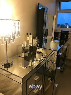 Mirrored glass Dressing Table Next- No cracks